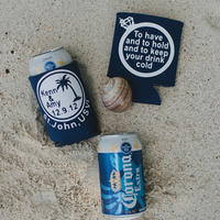 Personalized beer coozies