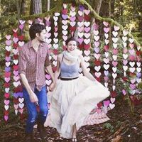 Paper Heart Backdrop