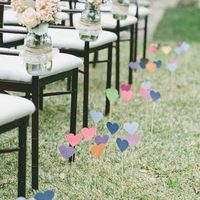 Paper Heart Aisle Markers