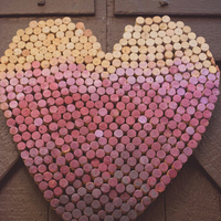 Ombre Dyed Cork Heart Decor