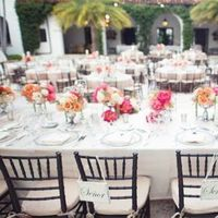 White Linens and Bright Florals