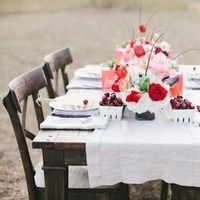 Charming Pink and Red Reception