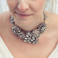 Glam Brooch Necklace