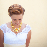 Retro Yellow Necklace