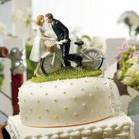 Vintage-inspired Bicycle Cake Topper