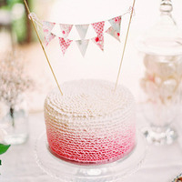 Bunting Ombre Wedding Cake