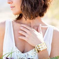 Edgy Gold Bridal Bracelet