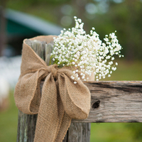 Burlap and Baby's Breath