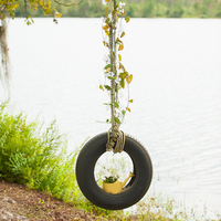 Decorated Tire Swing