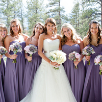 Bridesmaids in Purple