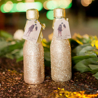 Glitzy Mini Champagne Bottles