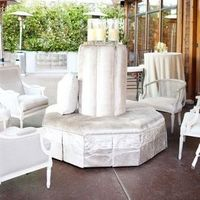 Glam Silver Reception Lounge