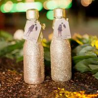 Glitzy Mini Champagne Bottles