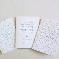 Preppy Nautical Wedding Programs