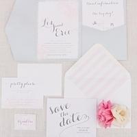 Light & Springy Wedding Invites