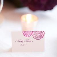 Pink Floral Escort Cards