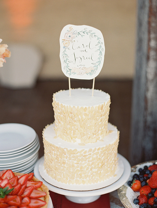 Garden-inspired Cake Topper