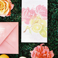Coloful & Fruity Wedding Invitations
