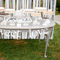 Ribbon Backdrop Dessert Display