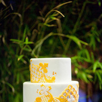 Yellow Modern Wedding Cake