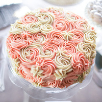Ombre Rosette Wedding Cake