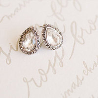 Glam Teardrop Stud Earrings