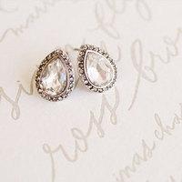 Glam Teardrop Stud Earrings