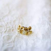 Gold Floral-Inspired Studs