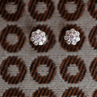 Sparkly Clustered Rhinestone Studs