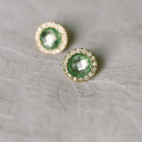 Glamorous Green Earrings