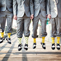 Sunshine Yellow Plaid Socks