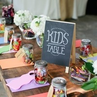 Mason Jar Kids' Reception Tables