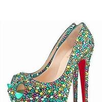 Colorful Diamon &Fashion Shoes