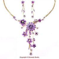 Noble Purple Rhinestone Wedding Acessories