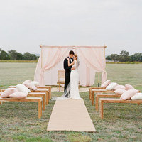 Simple Pink Wedding Altar