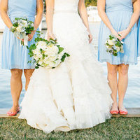Pastel Blue Bridesmaids