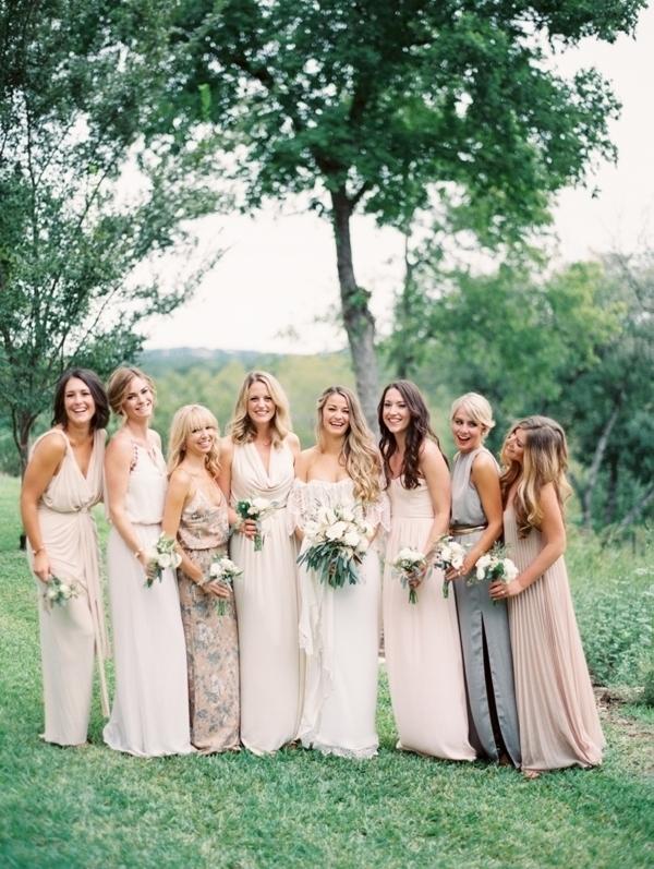 Glam Neutral Bridesmaids Dresses