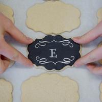 DIY: Chalkboard Monogram Cookies