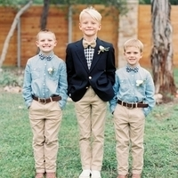 Chambray Shirt for Ring Bearers