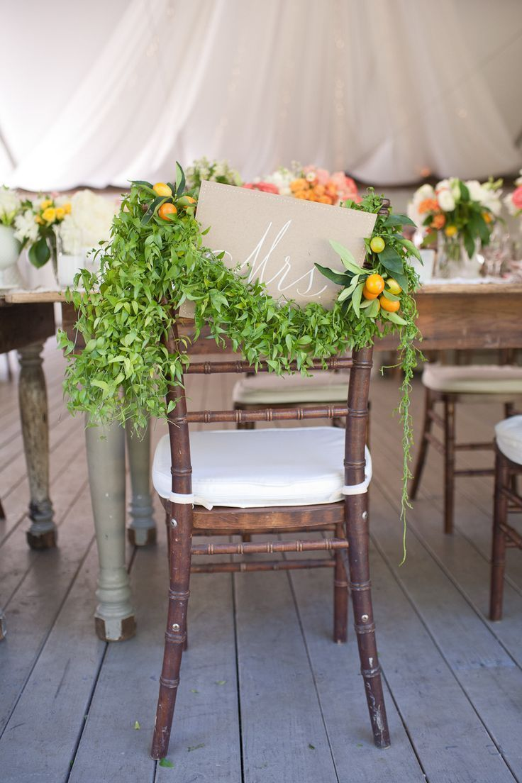 Greenery Chair Decor