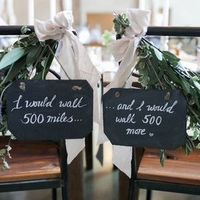 Song Lyric Chair Decor