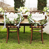 Green Garland Chair Decor