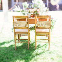 Wooden Sign Chair Decor
