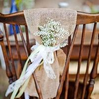Burlap Chair Decor