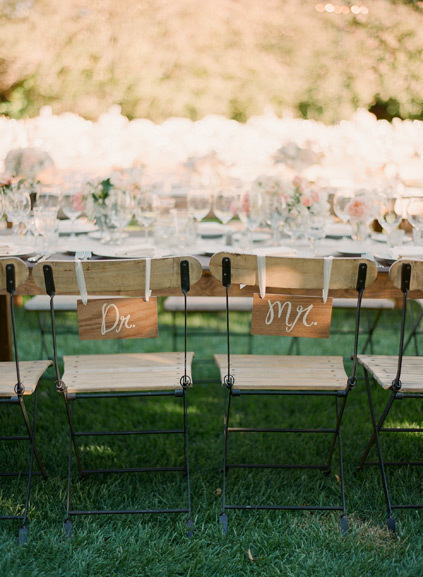 Rustic Wedding Chair Decor