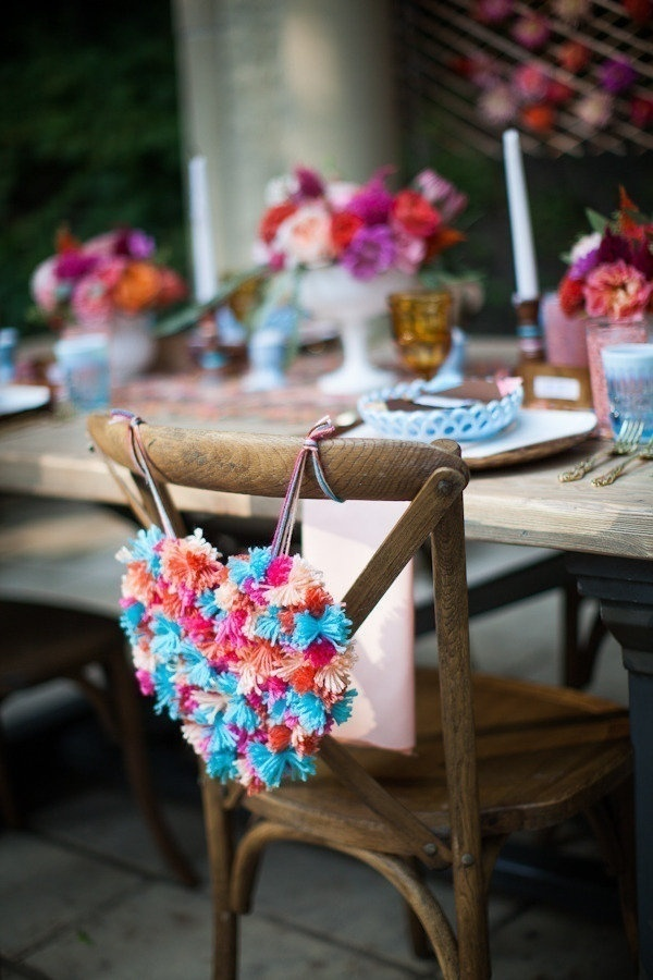 Whimsical Heart Chair Decor