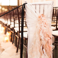 Glam Ruffled Chair Cover