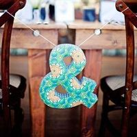 Cloth Ampersand Chair Sign