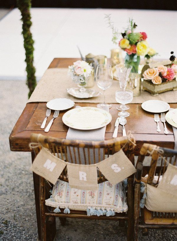 Burlap Chair Banners