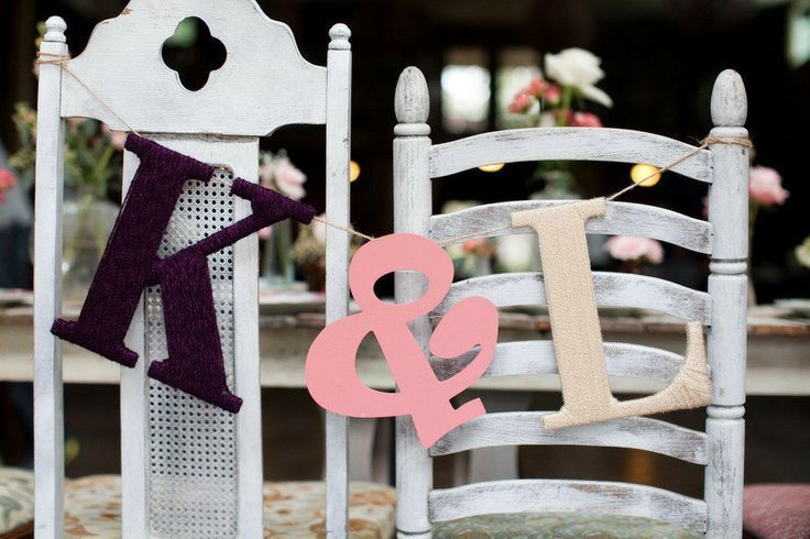 Wooden Monogram Chair Decor